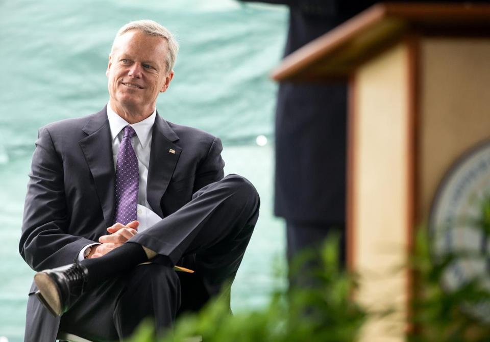 Governor Charlie Baker listened during a groundbreaking ceremony for the Green Line Extension on Prospect Street in Somerville earlier this week.