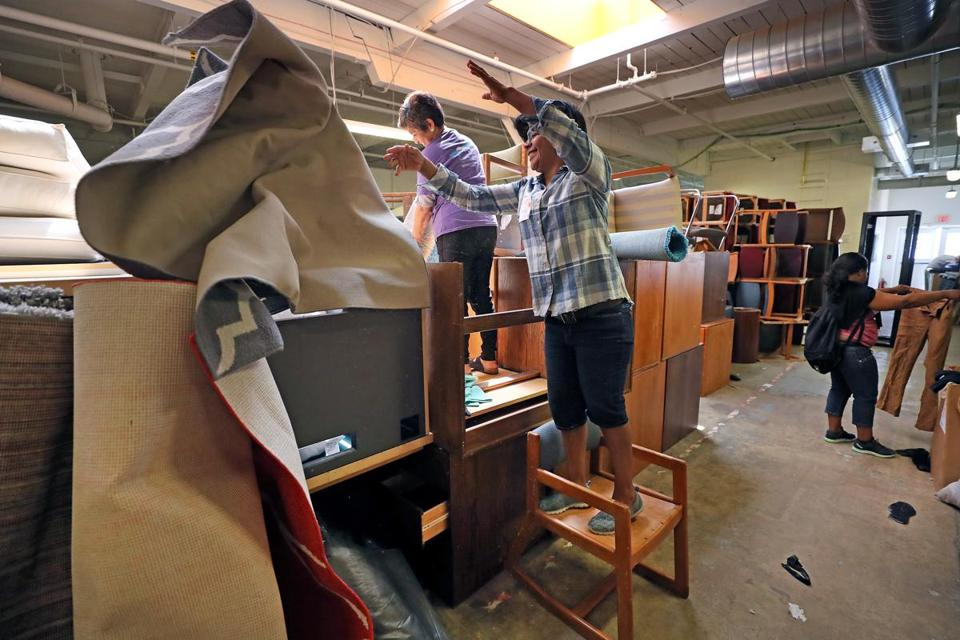 4cb7d5825 Harvard University s Recycling and Surplus Center is open to the public on  Thursdays and attracts treasure