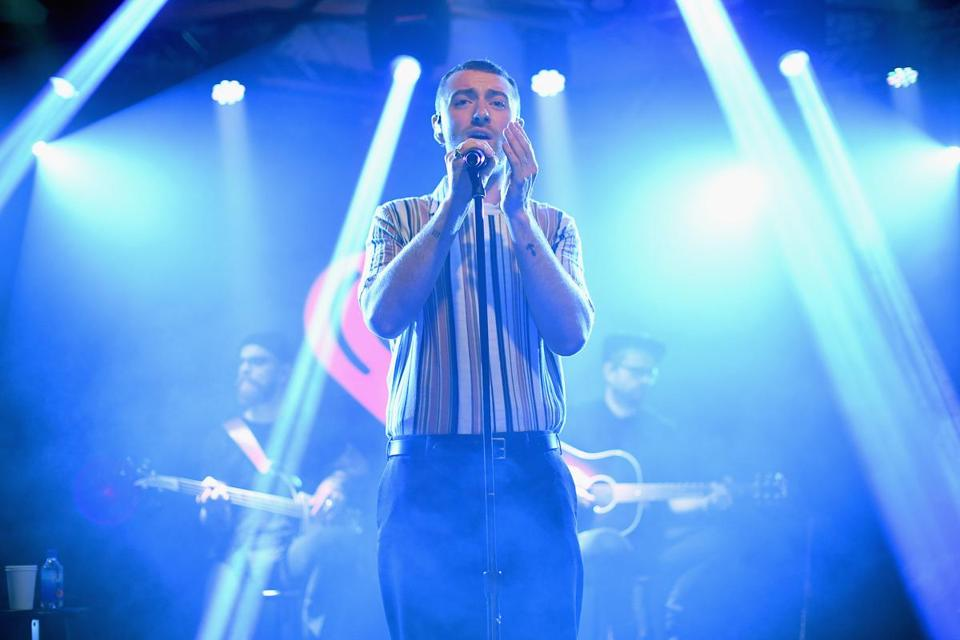 Sam Smith (shown in New York last year) enticed the crowd into sing-alongs Tuesday night at TD Garden.