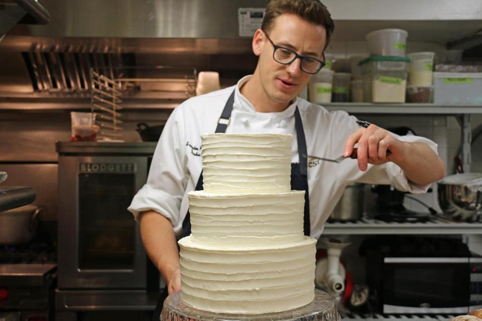 "Chef Joshua Livsey, a ""Holiday Baking Championship"" finalist, creates masterful sweets in Cambridge."