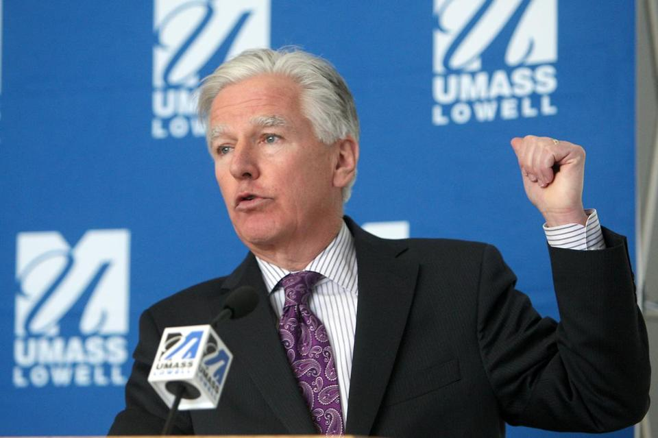 University of Massachusetts president Marty Meehan is the target of an ad campaign launched by adjunct faculty at UMass Lowell who are unhappy with their lack of health insurance.