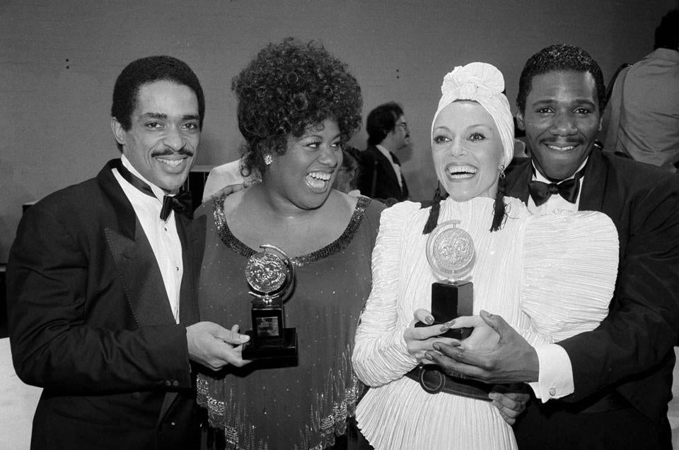 "Ms. Montevecchi (second from right) won a Tony for best supporting actress in ""Nine."""