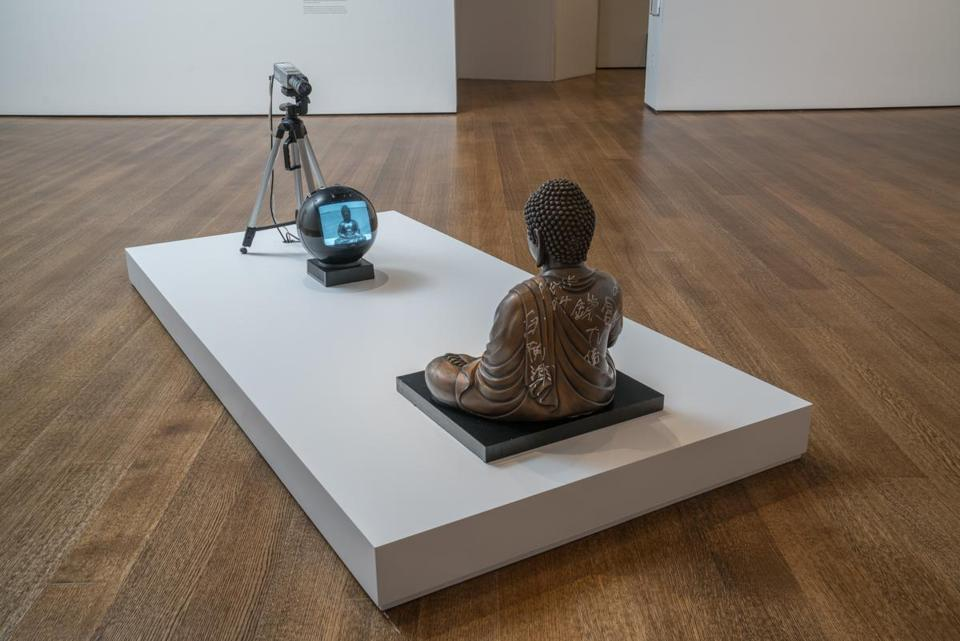 "Nam June Paik's ""TV Buddha (Bronze Seated Buddha)"