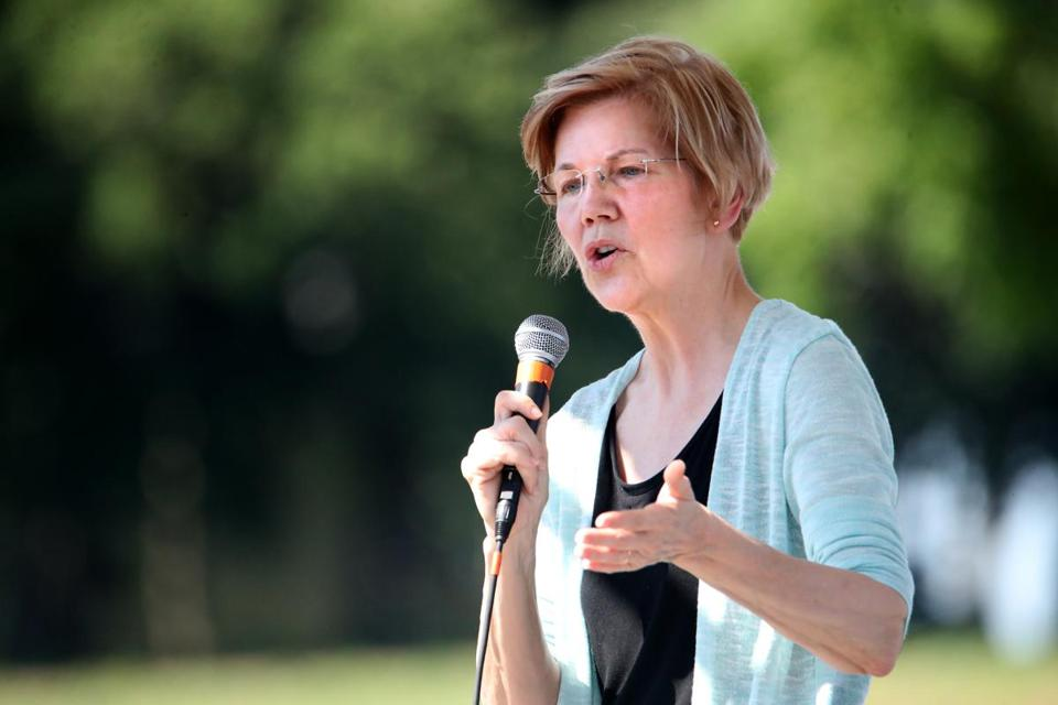 US Senator Elizabeth Warren hosted a town hall meeting at Belkin Family Lookout Farm in Natick on Sunday.