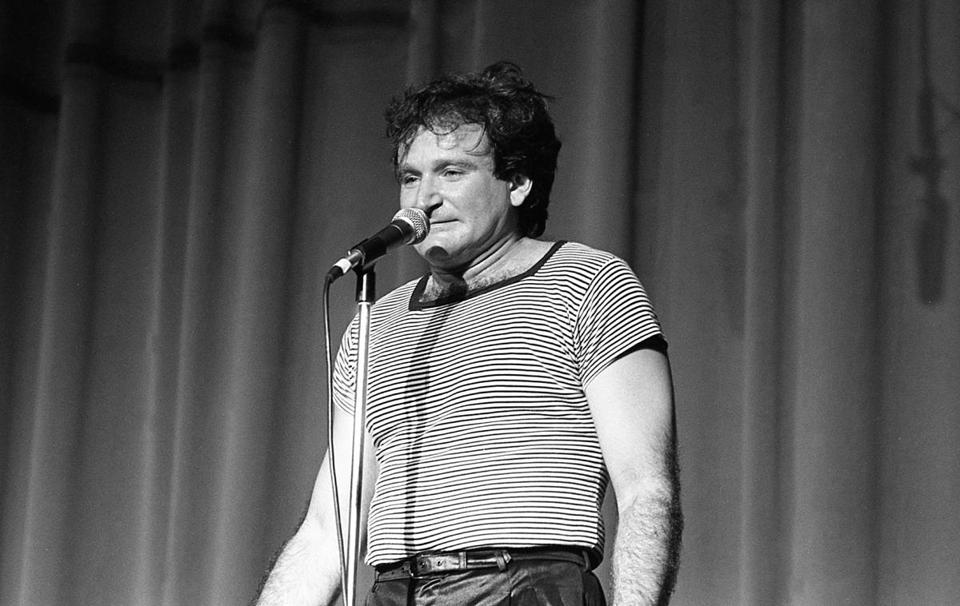 Robin Williams on stage in 1982