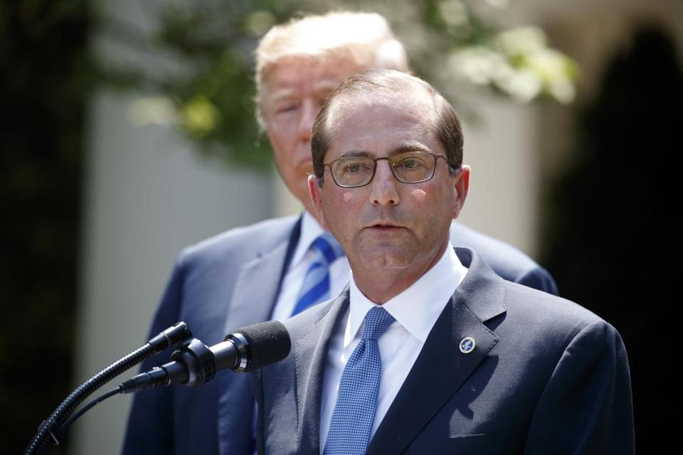 Health and Human Services chief Alex Azar said the Trump administration is watching drug companies closely as they continue to raise prices.