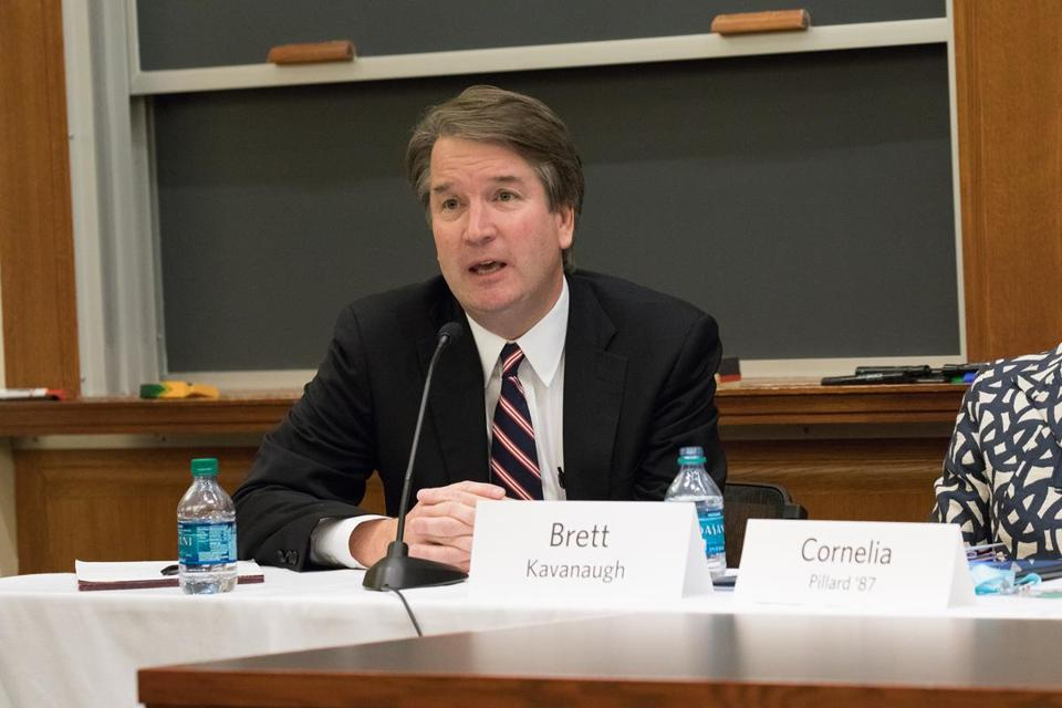 Brett Kavanaugh speaks at the World and Reunions at Harvard Law School on October 27, 2017. A bicentennial summit of academic sessions and programs devoted to legal issues of pressing importance. must credit Martha Stewart