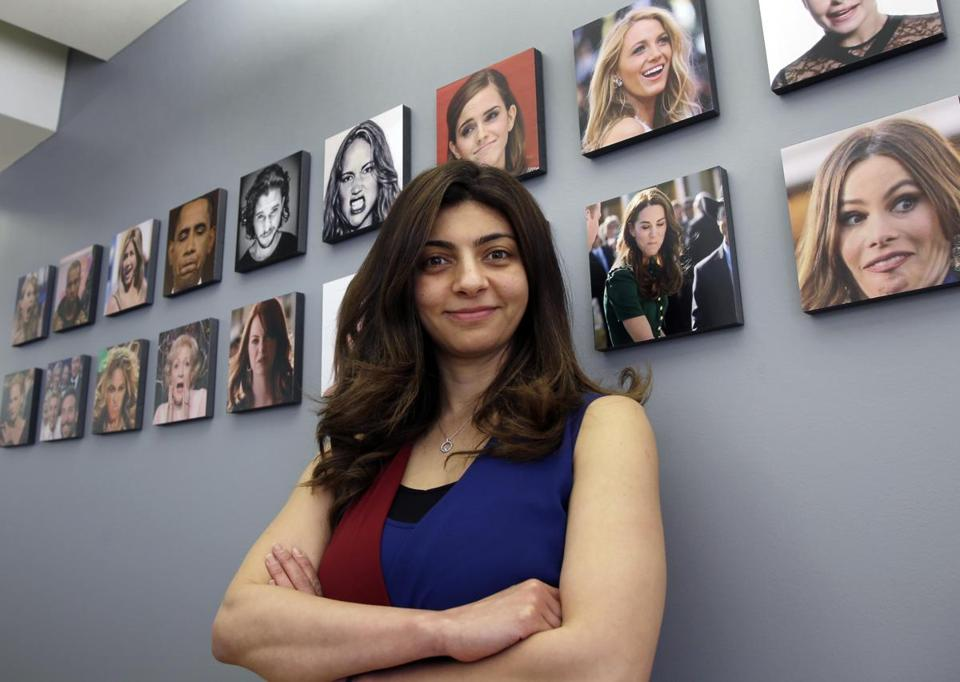 Rana el Kaliouby, CEO of the Boston-based artificial intelligence firm, Affectiva.