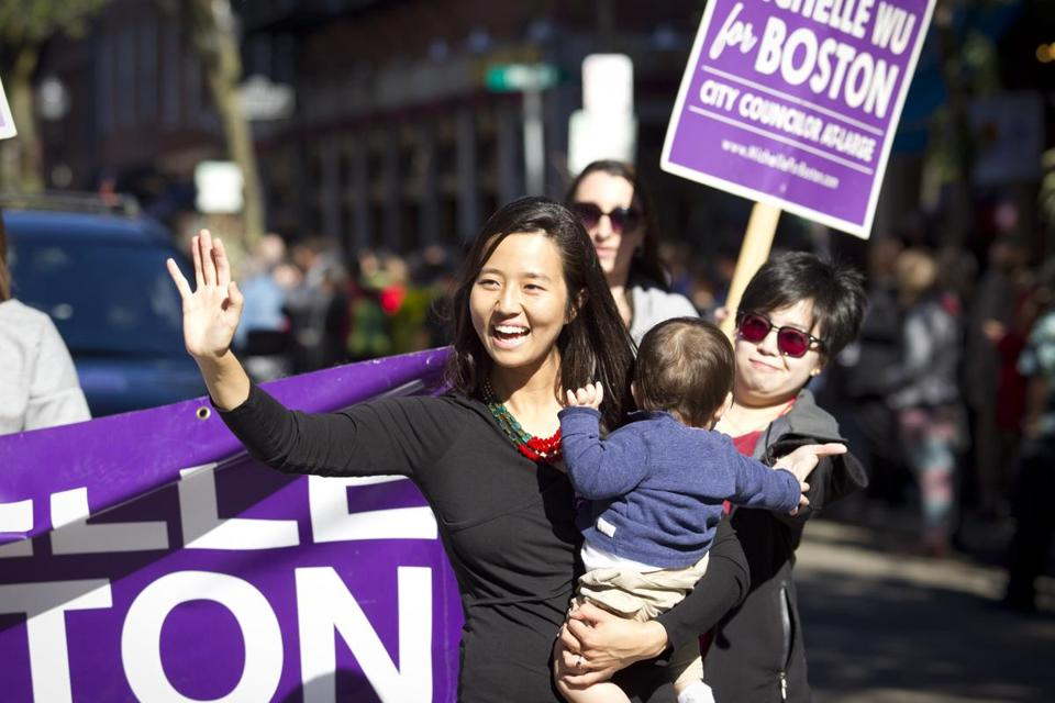 """Parenting is a crazy juggling act, no matter what field you are in,"" City Councilor Michelle Wu said. ""Once you add in the unpredictability and hours of politics, it takes you to a new level of humility."""