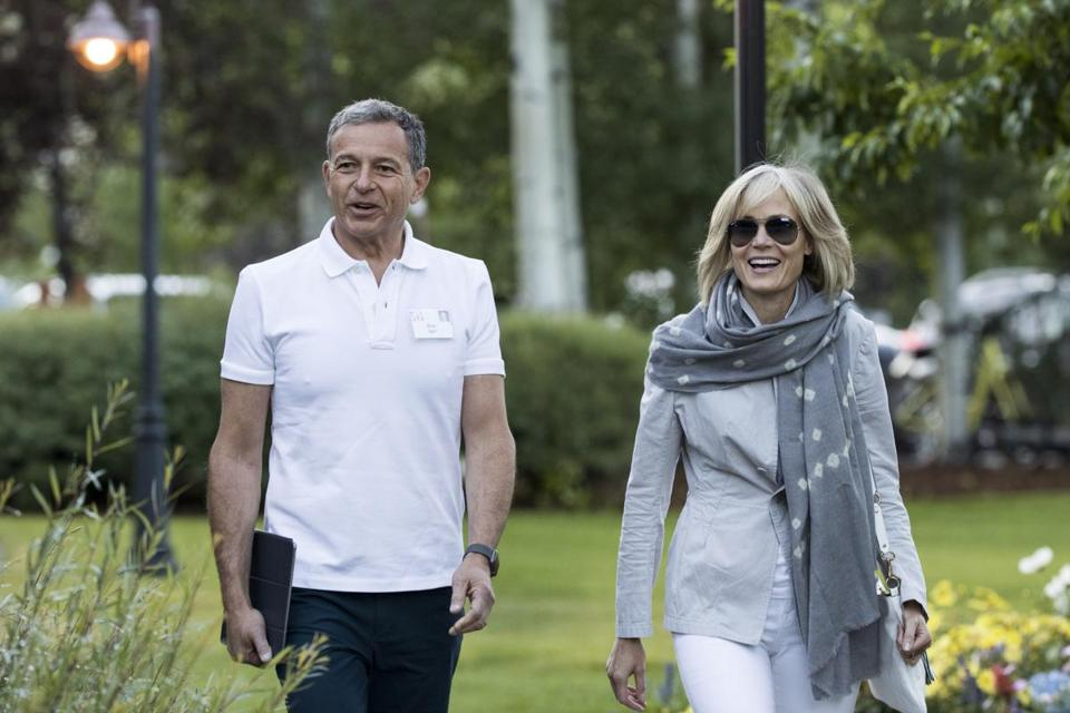 Bob Iger, chairman and chief executive officer of The Walt Disney Company, and his wife journalist Willow Bay attended the annual Allen & Company Sun Valley Conference, on Thursday.