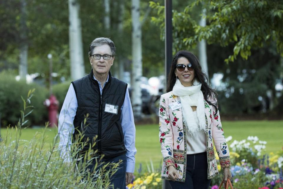 John Henry and Linda Pizzuti Henry, owners of the Red Sox (and the Boston Globe), attend the annual Allen & Company Sun Valley Conference, July 12 in Sun Valley, Idaho.