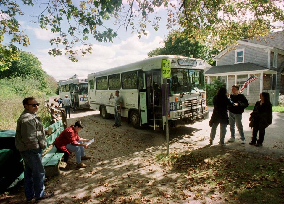 A transit bus on Martha's Vineyard, as pictured in 2000.