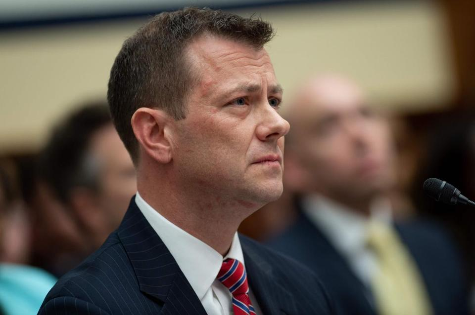 Deputy Assistant FBI Director Peter Strzok testifies on FBI and Department of Justice actions during the 2016 presidential election during a House Joint committee hearing on Capitol Hill in Washington, DC, July 12, 2018. / AFP PHOTO / SAUL LOEBSAUL LOEB/AFP/Getty Images