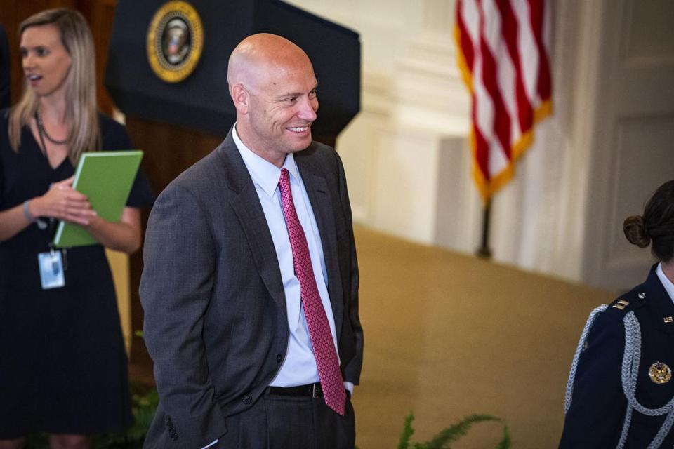 Marc Short, White House director of legislative affairs, leaves the U.S. Supreme Court nomination announcement ceremony at the White House on Monday. MUST CREDIT: Bloomberg photo by Al Drago.