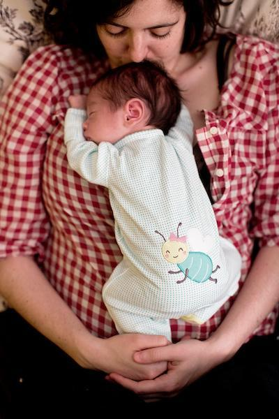 Chelsea Conaboy with her 3-week-old son in April 2015.