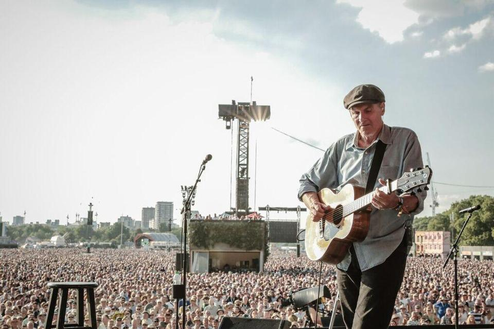 "James Taylor performed ""Shed a Little Light"" in London's Hyde Park Sunday."