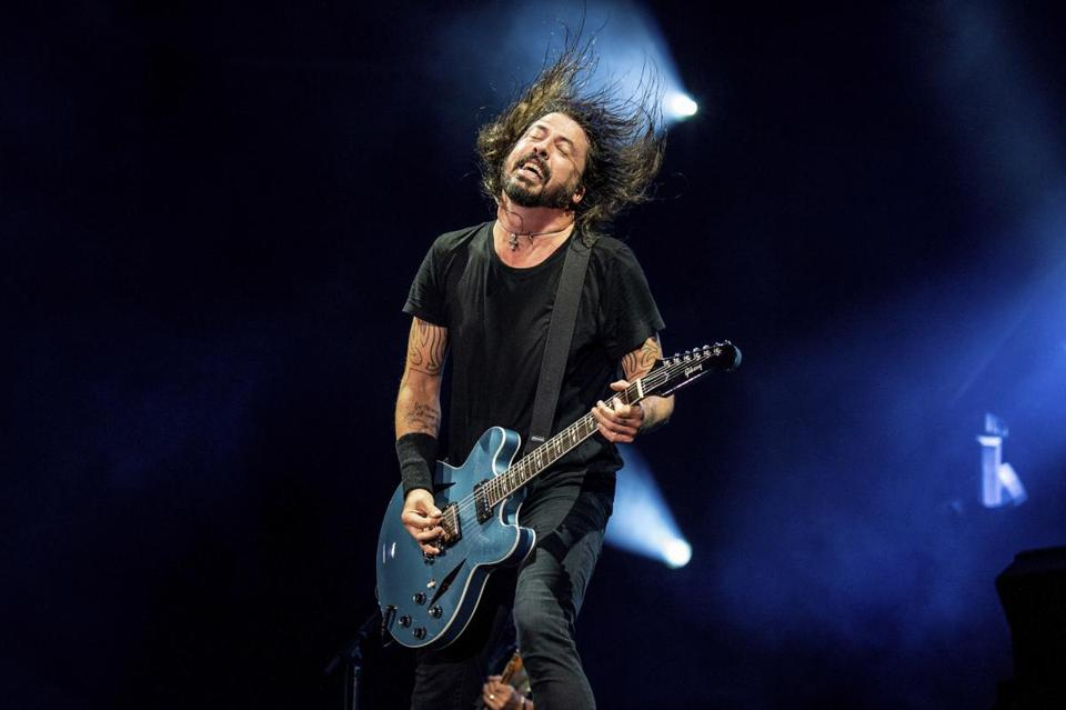 Dave Grohl and his band Foo Fighters bring their heavy rock sound to Fenway Park for two nights.