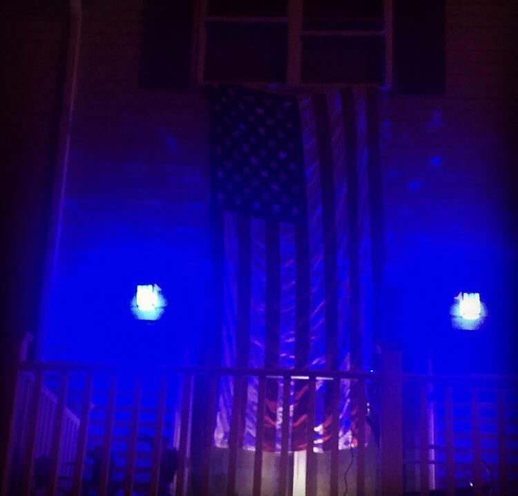 weymouth residents buy up blue lights to put outside homes in honor