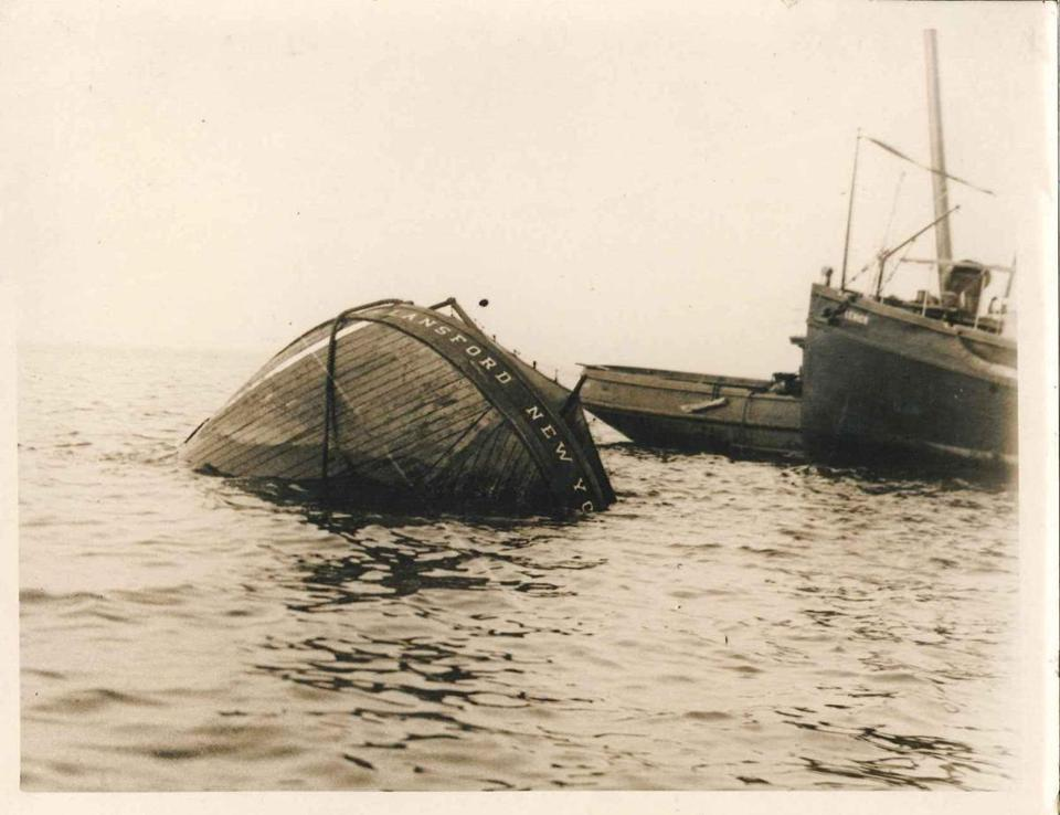 The Lansford schooner barge was one of three sunk by a U-boat attack off of Orleans in 1918.