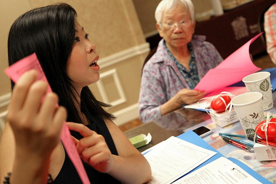 Shiyun Guan led a group of seniors in Boston in talks on dying, a taboo topic in Chinese culture.