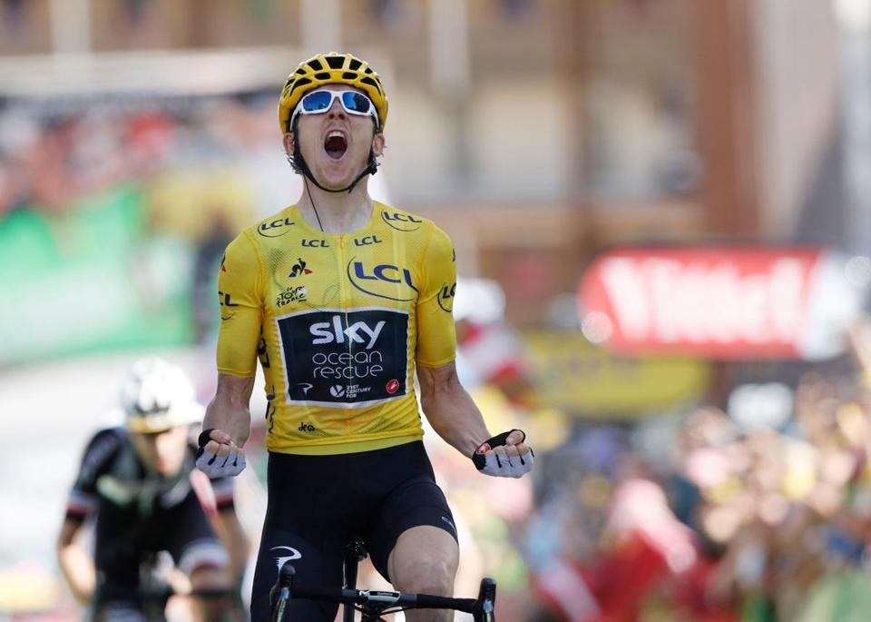 b0c3d8360 Geraint Thomas outsprints Chris Froome to win stage - The Boston Globe