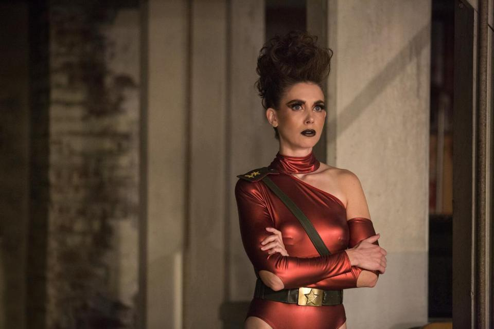 "This image released by Netflix shows Alison Brie in a scene from ""GLOW."" The program was nominated for an Emmy on Thursday for outstanding comedy series. The 70th Emmy Awards will be held on Monday, Sept. 17. (Beth Dubber/Netflix via AP)"