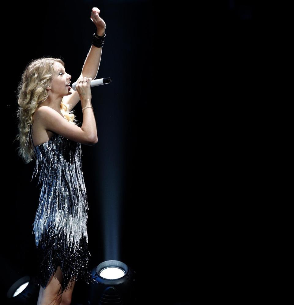 Swift at TD Garden on July 31, 2009.