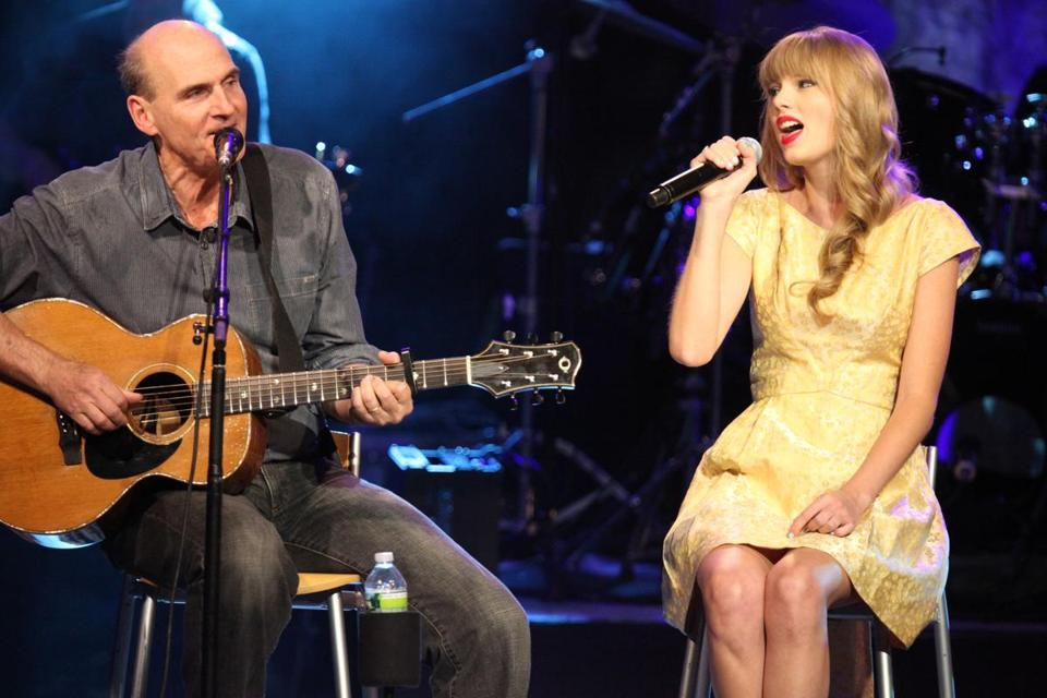 James Taylor and Taylor Swift at Tanglewood in 2012.