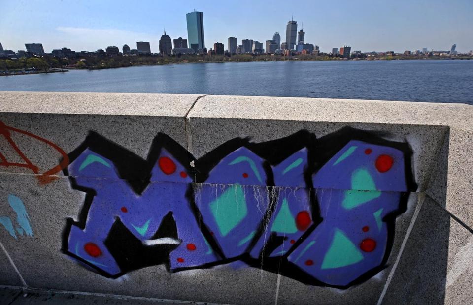 A Graffiti Tag On The Longfellow Bridge