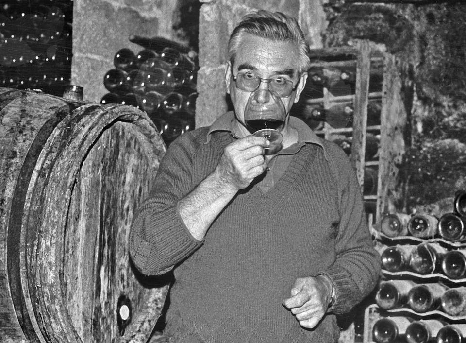 In a photo provided by Gail Skoff, Auguste Clape in about 1982. Clape, a pillar of the northern Rhône Valley wine region whose sturdy yet remarkably soulful wines awakened interest in the little-known Cornas appellation, died on July 13, 2018, in Valence, France. He was 93. (Gail Skoff via The New York Times) -- NO SALES; FOR EDITORIAL USE ONLY WITH NYT STORY OBIT CLAPE BY Eric Asimov FOR JULY 23, 2018. ALL OTHER USE PROHIBITED. --