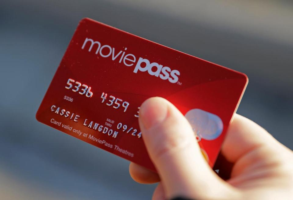 A card for MoviePass, the discount service for film tickets.