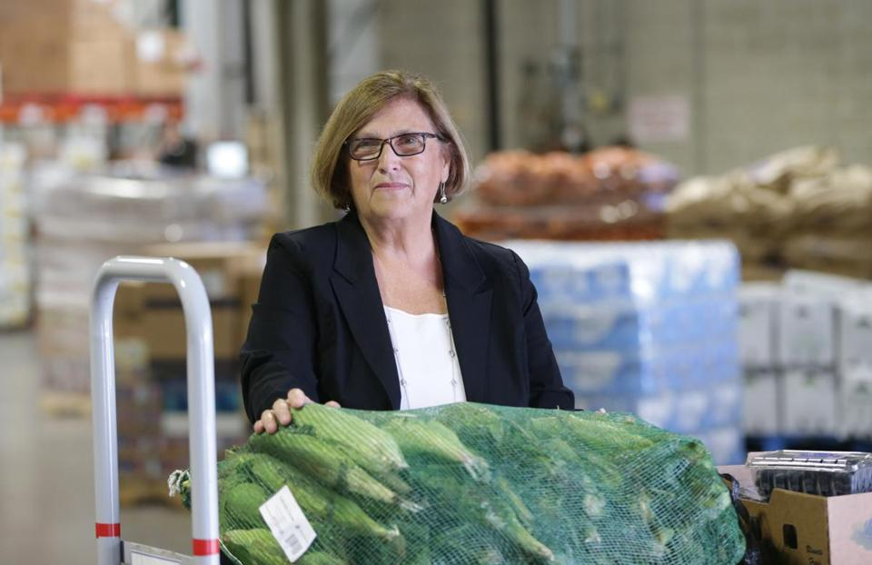 Catherine D'Amato oversees 110 employees and a $40 million annual budget at the Greater Boston Food Bank.