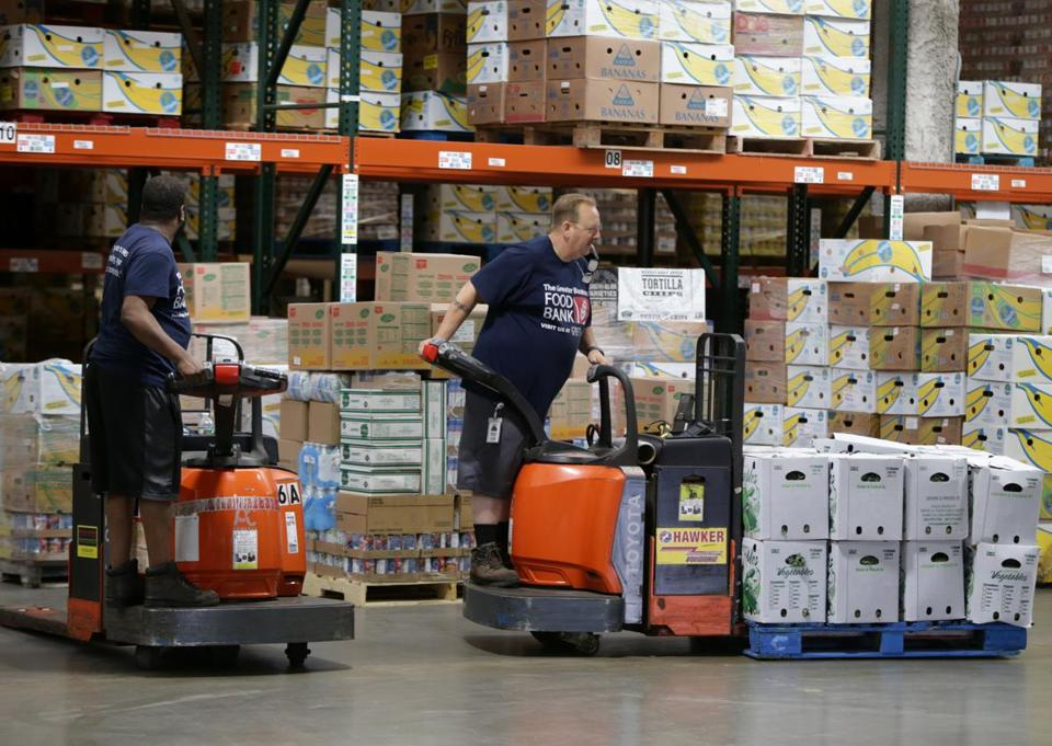 The Greater Boston Food Bank serves more than 140,000 people every month.