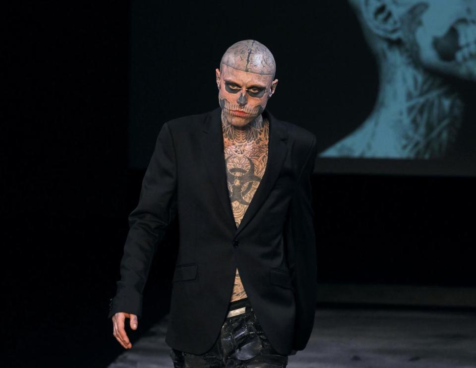 Mr. Genest modeled for French designer Thierry Mugler during a fashion show in Paris in 2011.