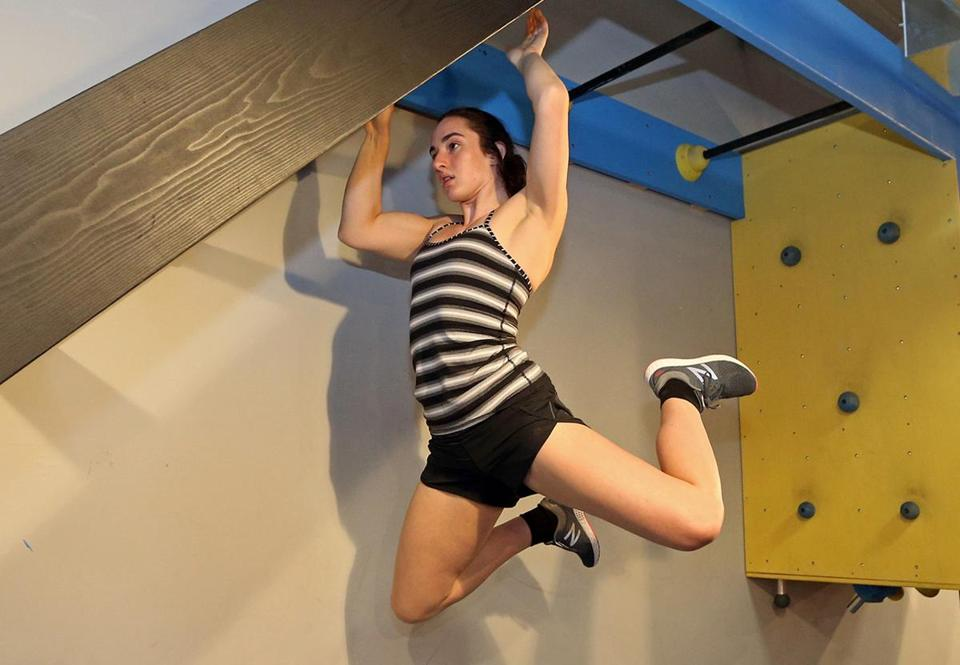 (Wellesley, MA 07/25/18) American Ninja Warrior emerging star Casey Rothschild trains at Action Athletics. (Photo by John Wilcox for the Boston Globe)