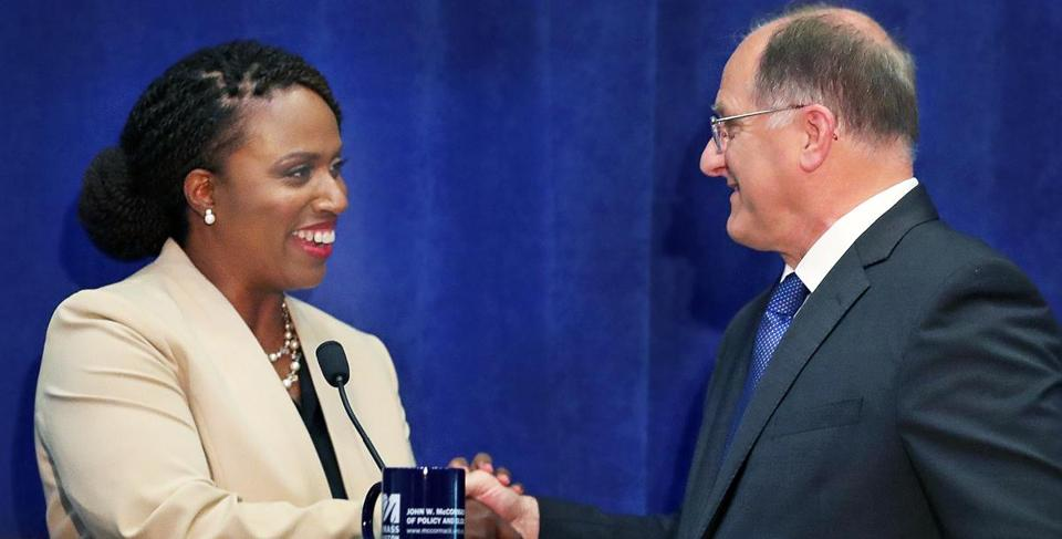 Ayanna Pressley and Michael Capuano avoided direct personal attacks during Tuesday's debate. The primary will be held on Sept. 4.