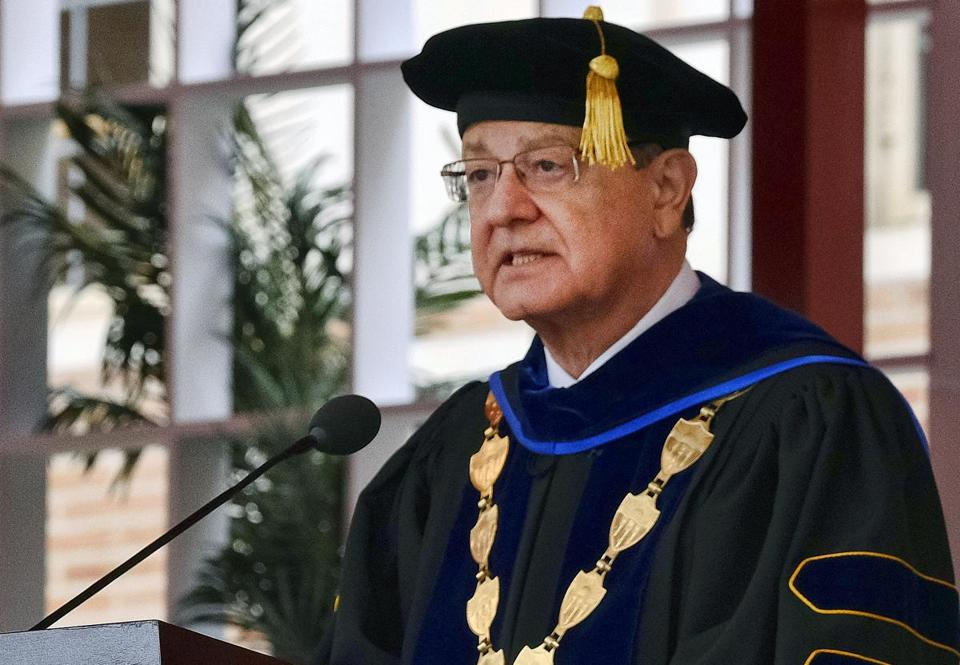 University of Southern California President C. L. Max Nikias said Tuesday he was stepping down.