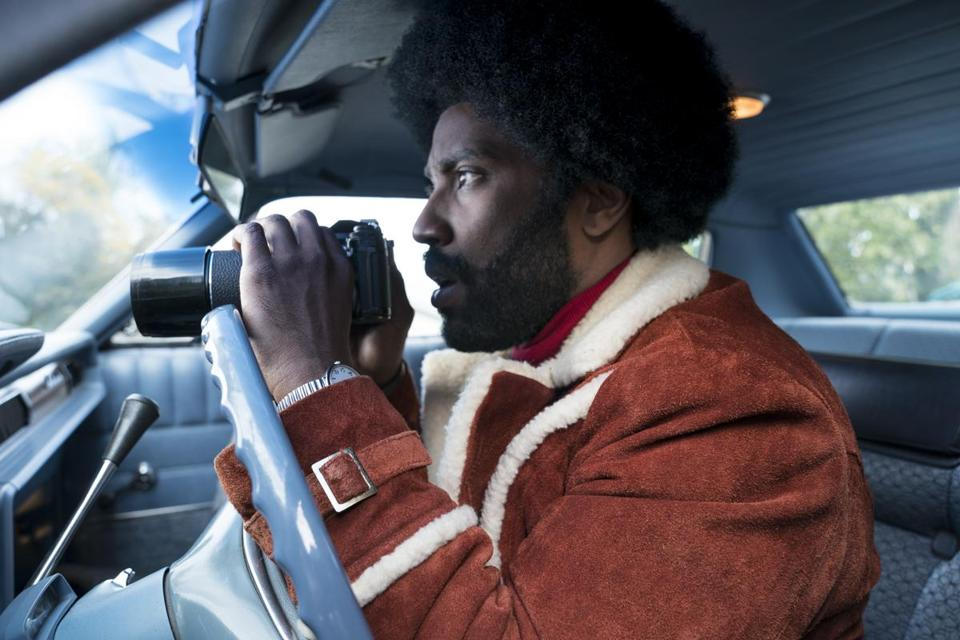"John David Washington, Denzel's son, stars in Spike Lee's ""BlacKkKlansman."""