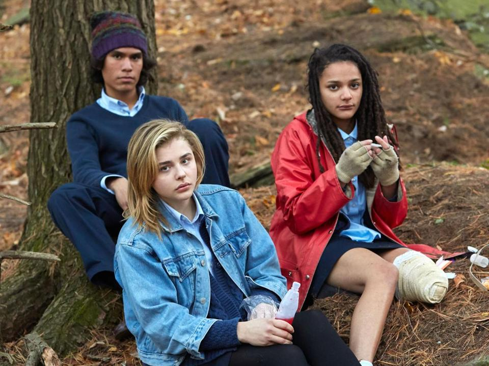 "Forrest Goodluck, Chloe Grace Moretz, and Sasha Lane star in ""The Miseducation of Cameron Post."""