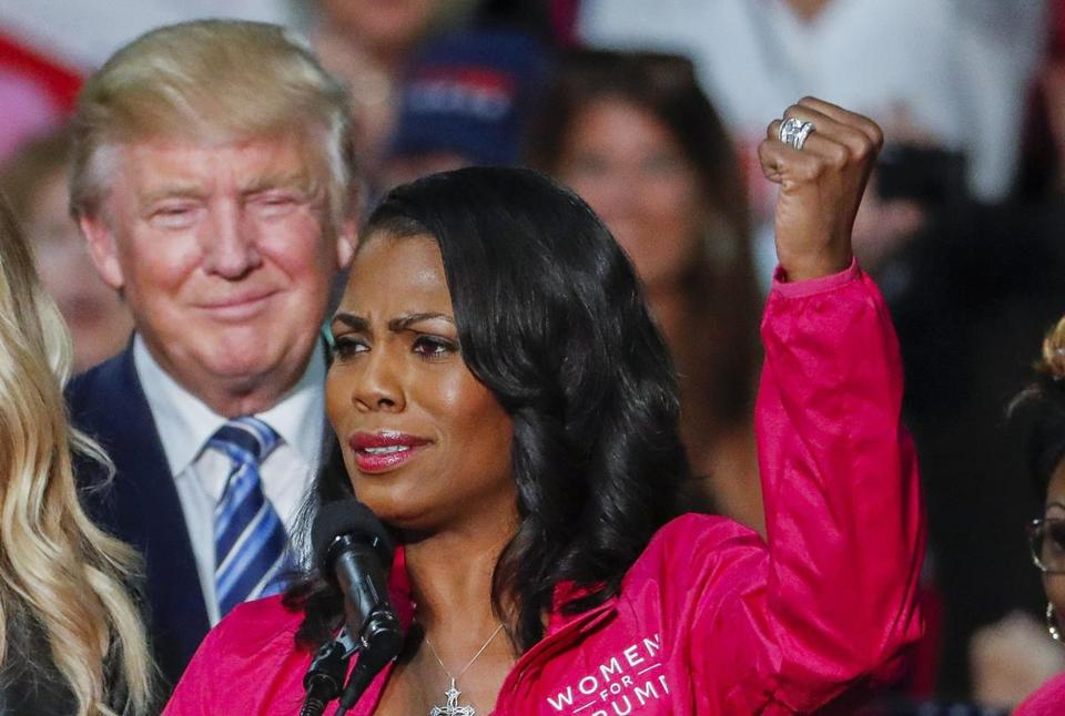 Then-presidential nominee Donald Trump stood with Omarosa Manigault Newman in Charlotte, North Carolina, in 2016.