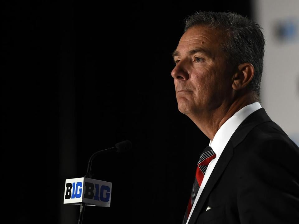 Urban Meyer at a Big Ten news conference last month in Chicago.