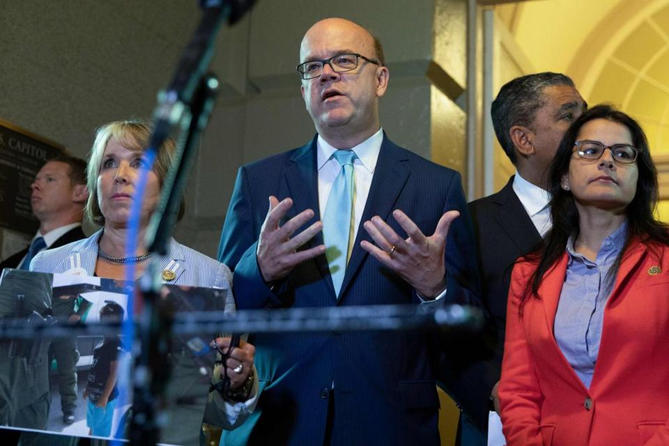 "Representative Jim McGovern, Democrat of Worcester, slammed President Trump's immigration policies, calling them ""unconscionable."""