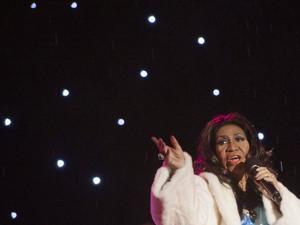 Ms. Franklin performed during the National Christmas Tree Lighting ceremony on the Ellipse adjacent to the White House in Washington, D.C., in 2013.