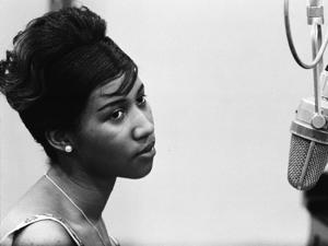 Ms. Franklin during her first recording sessions at Columbia Records in 1960.