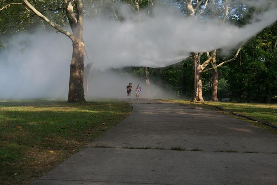 19installations The Fens Fog Sculpture, _Fog x FLO's Fog x Canopy_ (kids) by Melissa Ostrow 3. Credit: Melissa Ostrow