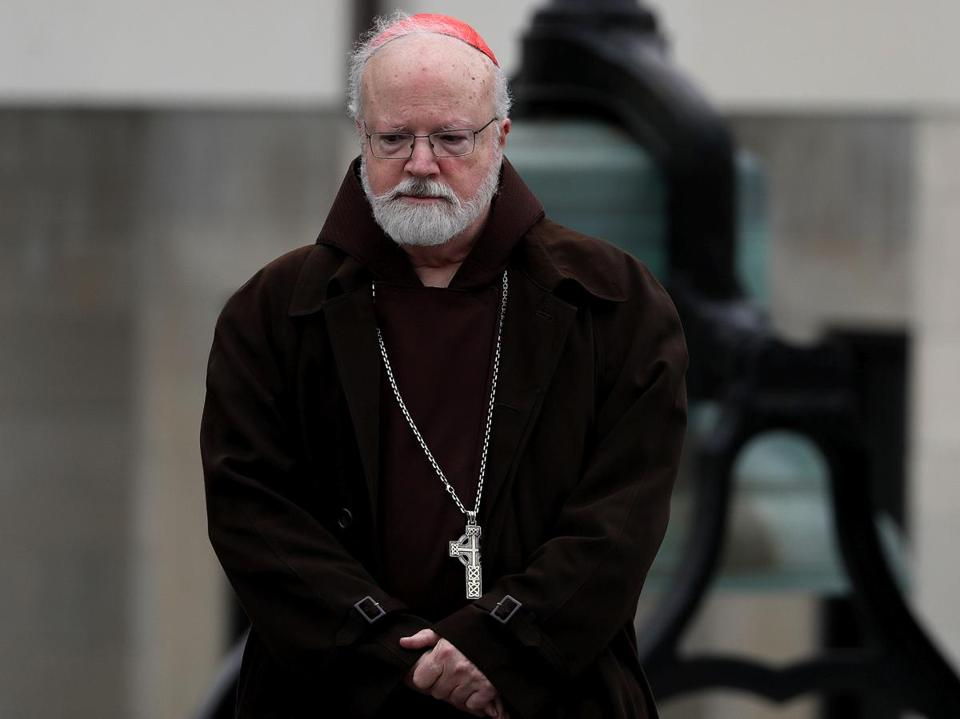 Randolph, MA - 3/21/2017 - Cardinal Sean P. O'Malley attended today's Wake for Watertown Firefighter Joseph Toscano at St. Mary's Catholic Church in Randolph. - (Barry Chin/Globe Staff), Section: Metro, Reporter: Globe Staff, Topic: 22wake, LOID: 8.3.1973858621.