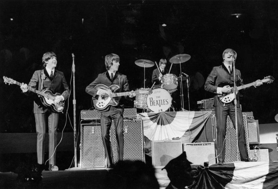 Boston, MA - 9/12/1964: The Beatles play at Boston Garden in Boston on Sept. 12, 1964. (Bob Dean/Globe Staff) --- BGPA Reference: 140530_CB_063 19Vocables
