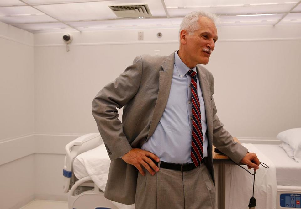 Dr. Charles Czeisler at a sleep lab in the Division of Sleep and Circadian Disorders at Brigham and Women's Hospital.