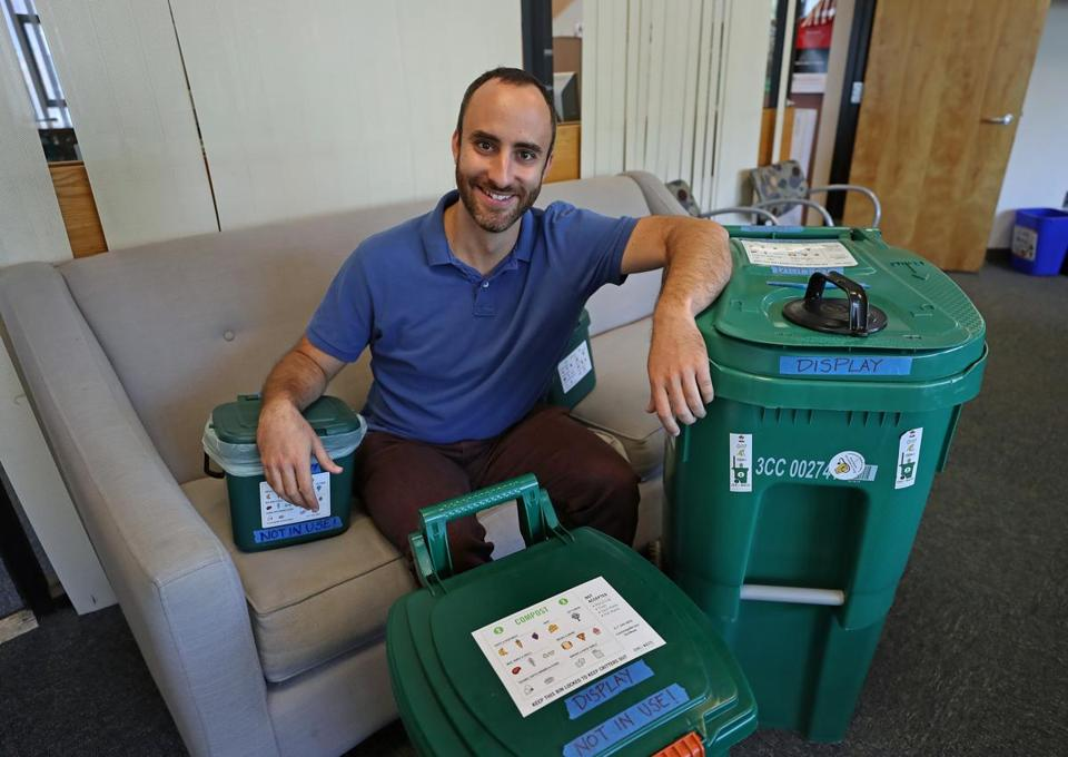 Michael Orr, recycling director for city of Cambridge, estimates about 40 percent of the city's trash can be composted.