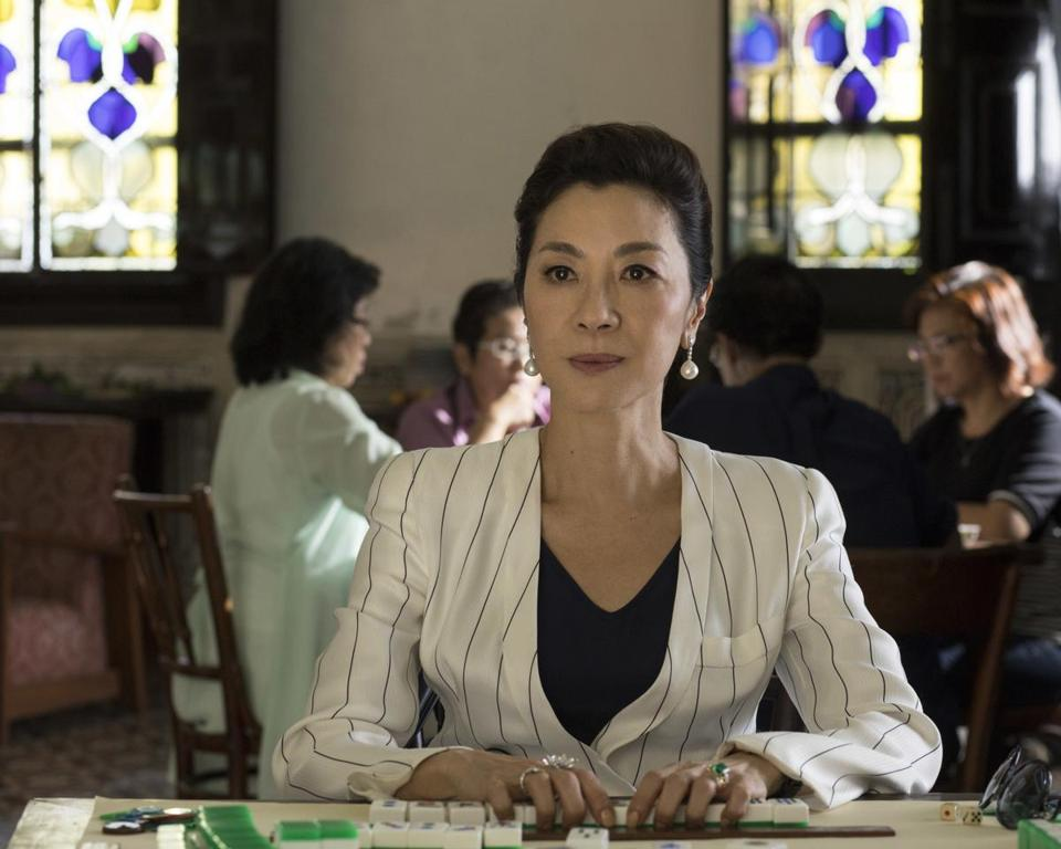 "Michelle Yeoh in a scene from ""Crazy Rich Asians."""